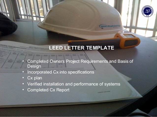 Leed Letter Template Inspirational Bdc Leed Cx Preso