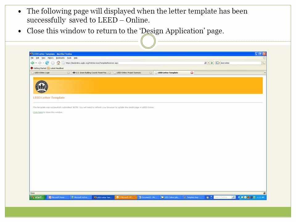 Leed Letter Templates Beautiful Go to Ppt
