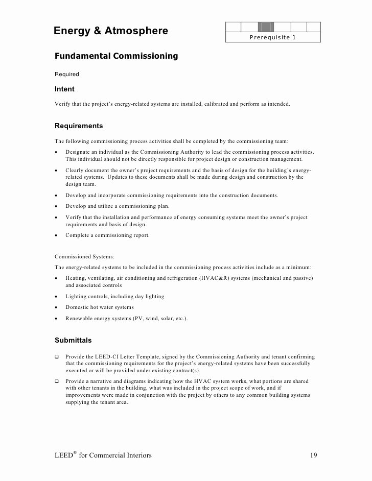 Leed Letter Templates Best Of Leed Ci Abbreviated Manual