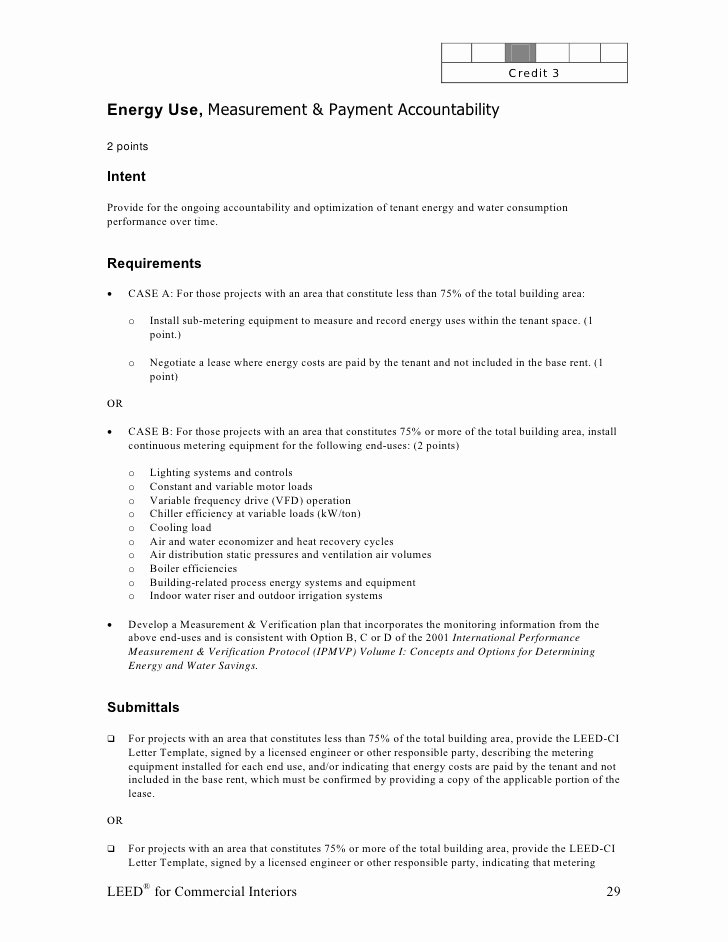 Leed Letter Templates Inspirational Leed Ci Abbreviated Manual