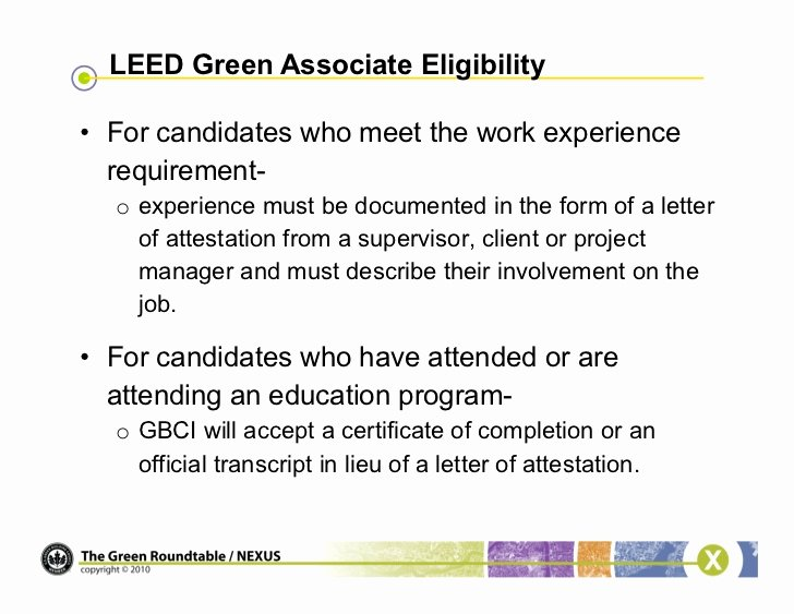 Leed Letter Templates Luxury Webinar Be E A Leed Green associate