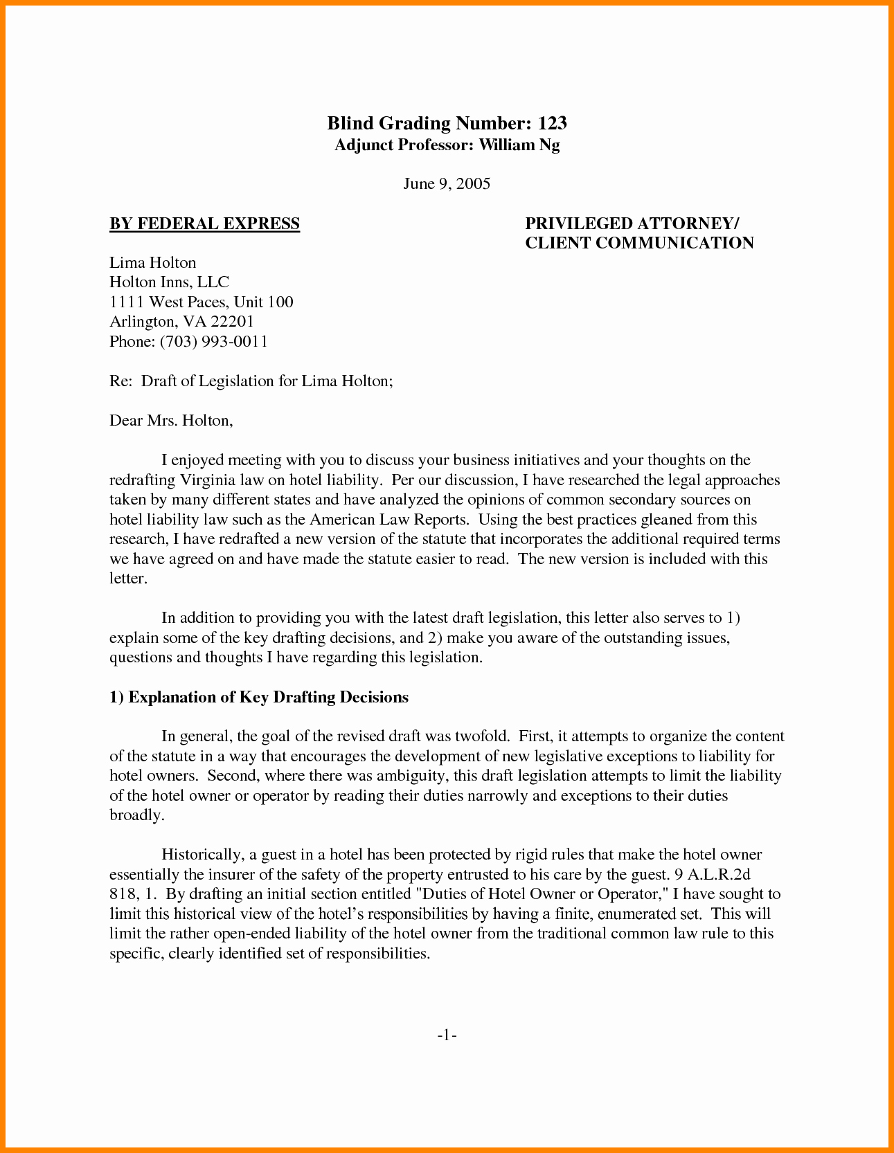 Legal Letter format Template Inspirational Legal Letter format to Client