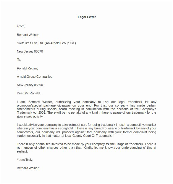 Legal Letter format Template New 15 Legal Letter Templates Pdf Doc