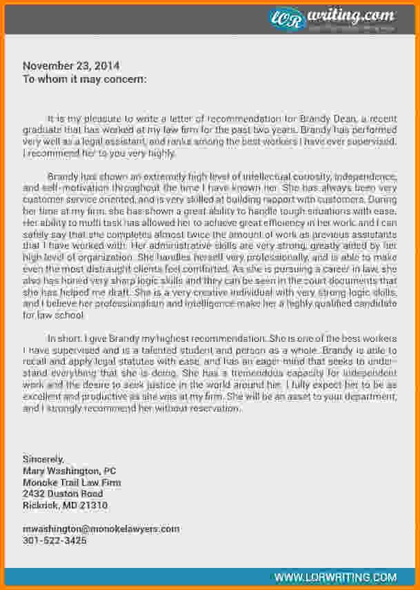 Legal Letter Of Recommendation Beautiful 9 Law School Letter Of Re Mendation