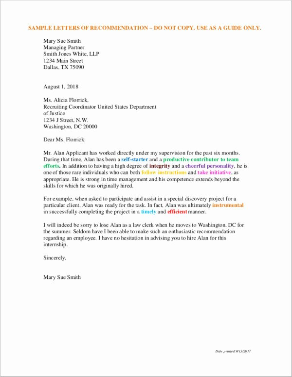 Legal Letter Of Recommendation Unique 43 Letter Of Re Mendation Samples & Templates