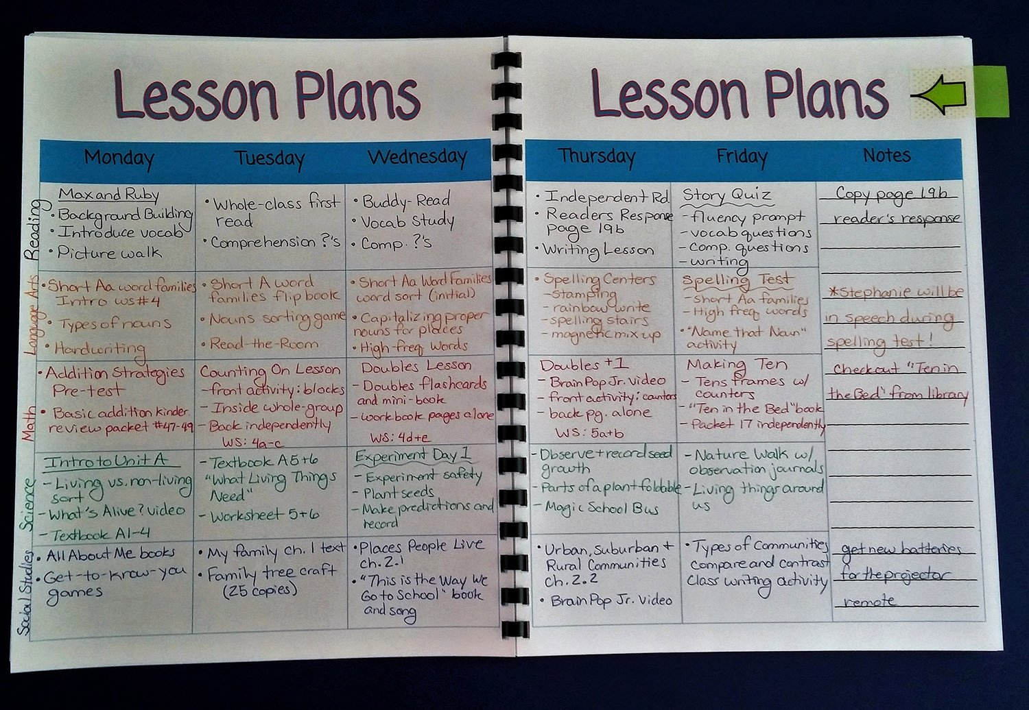 Lesson Plan Book Template Printable Awesome Resources to Help You In September