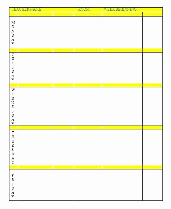 Lesson Plan Calendar Template Unique Editable Lesson Plan Template High School Free Lesson Plan