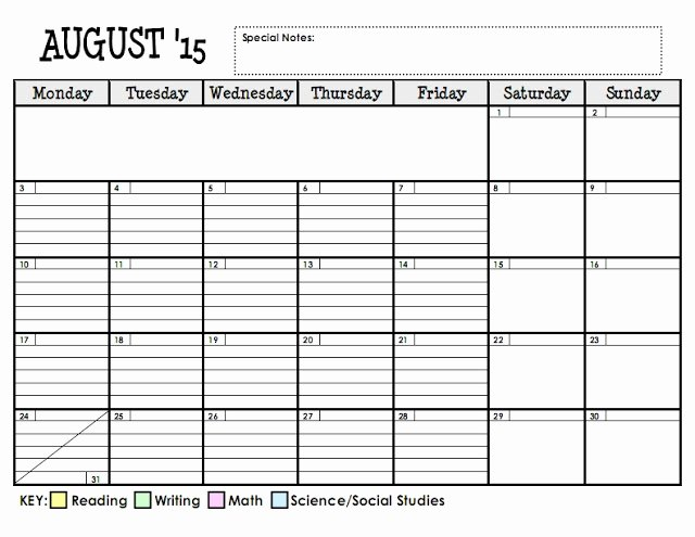 Lesson Plan Calendar Template Unique Lesson Plan Series the Planning Calendar Teaching