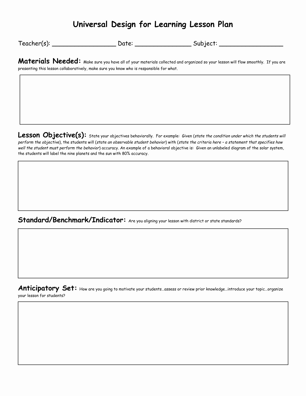 Lesson Plan Outline Template Best Of Lesson Plan Template Ideas On Pinterest