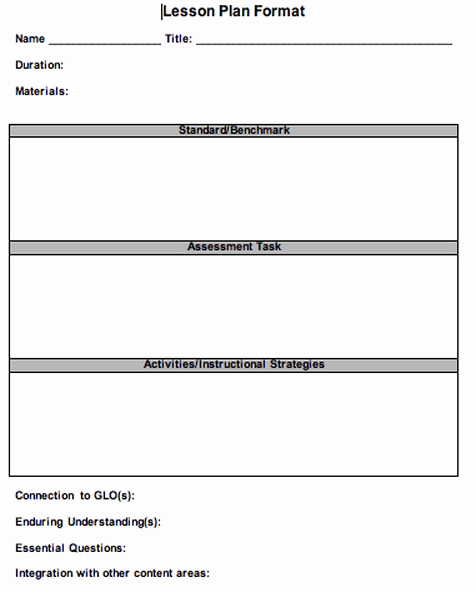 Lesson Plan Template Doc Fresh 41 Free Lesson Plan Templates In Word Excel Pdf