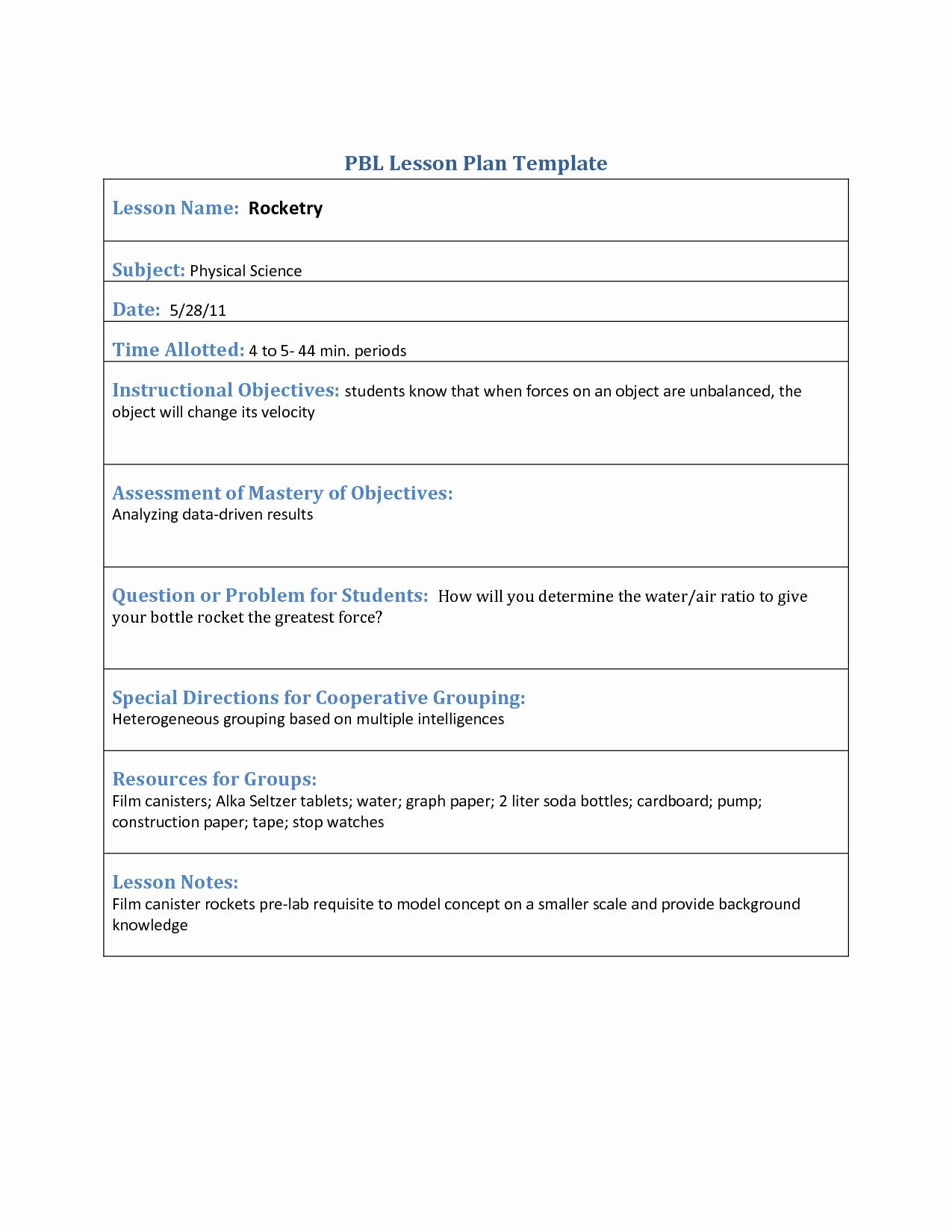 Lesson Plan Template Doc Luxury Lesson Plan Template Doc