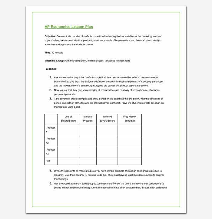 Lesson Plan Template Doc New Lesson Plan Outline Template 23 Examples formats and