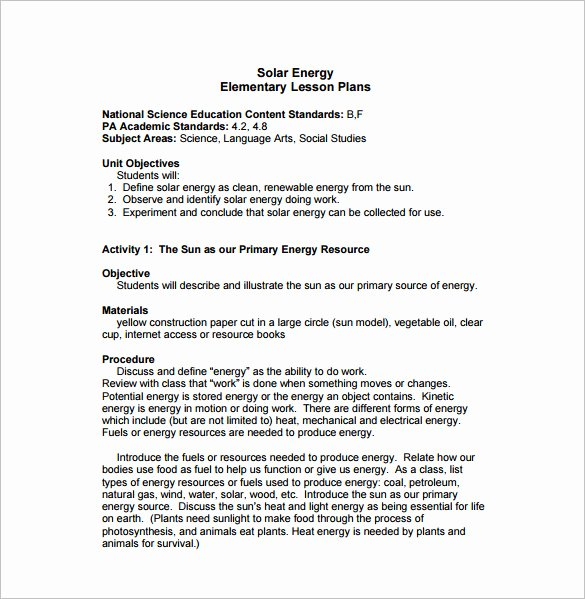 Lesson Plan Template Elementary Luxury World Bernand