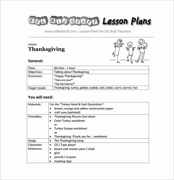 Lesson Plan Template for Preschool Elegant Kindergarten Lesson Plan Template 3 Free Word Documents