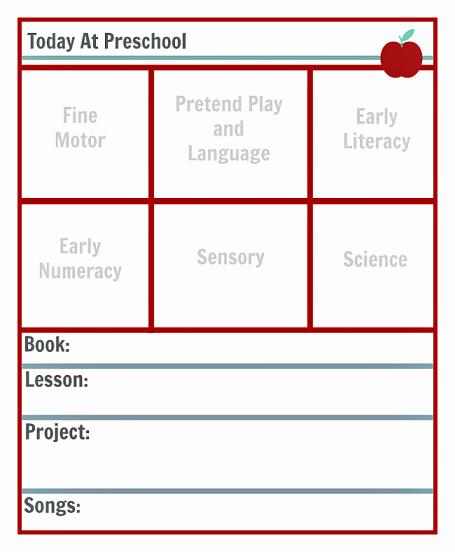 Lesson Plan Template for Preschool New Preschool Lesson Planning Template Free Printables No
