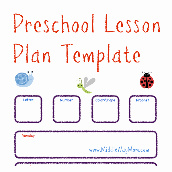 Lesson Plan Template for toddlers Luxury Make Preschool Lesson Plans to Keep Your Week Ready for