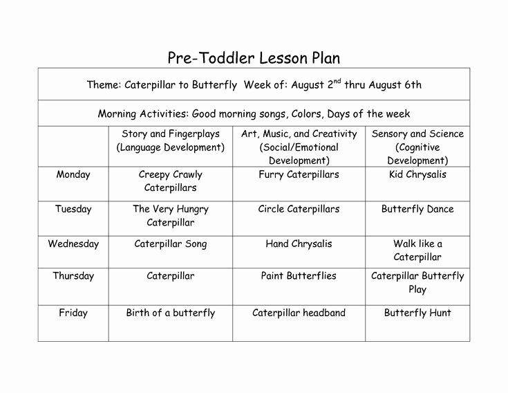 Lesson Plan Template for toddlers Unique Best 25 toddler Lesson Plans Ideas On Pinterest