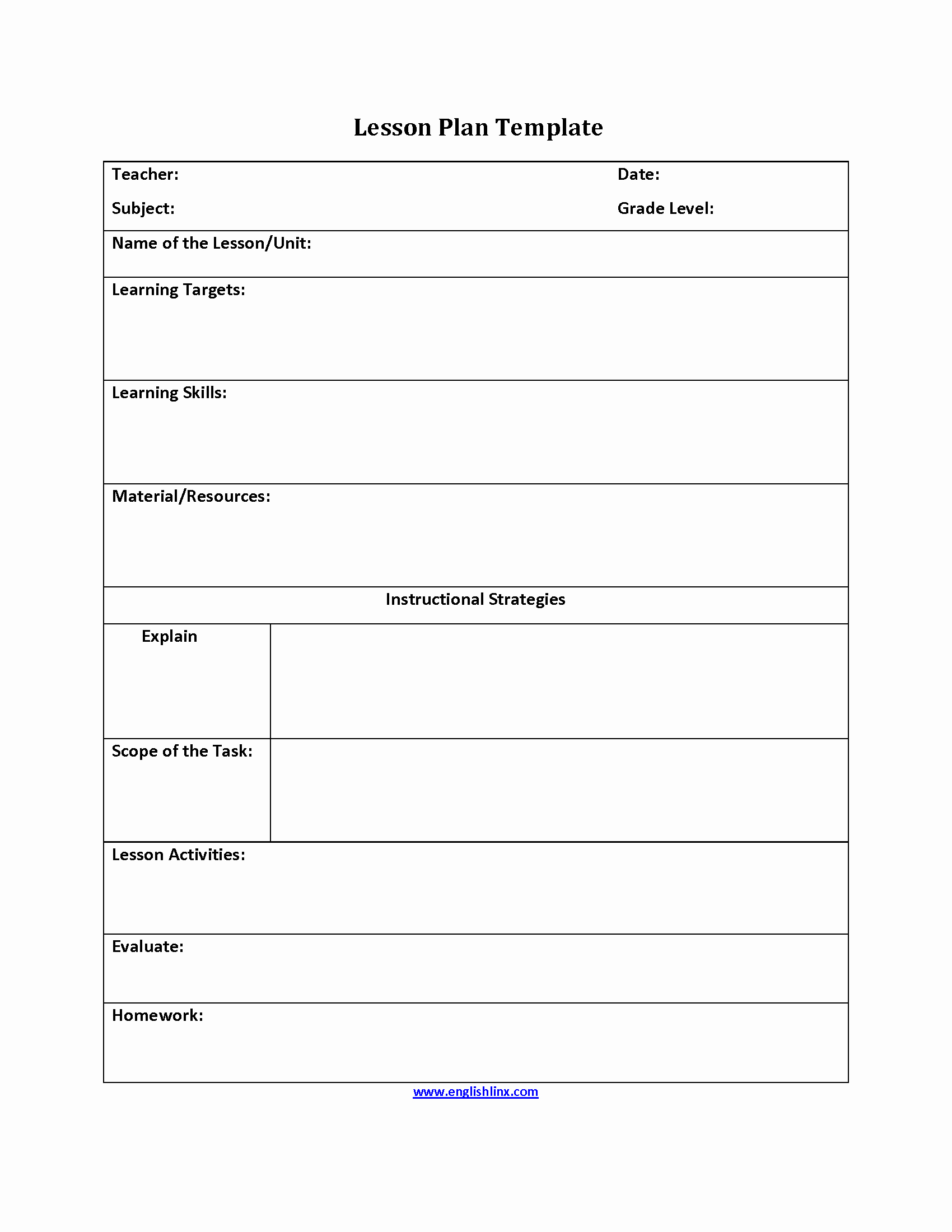 Lesson Plan Template Free Elegant What is Lesson Plan Template