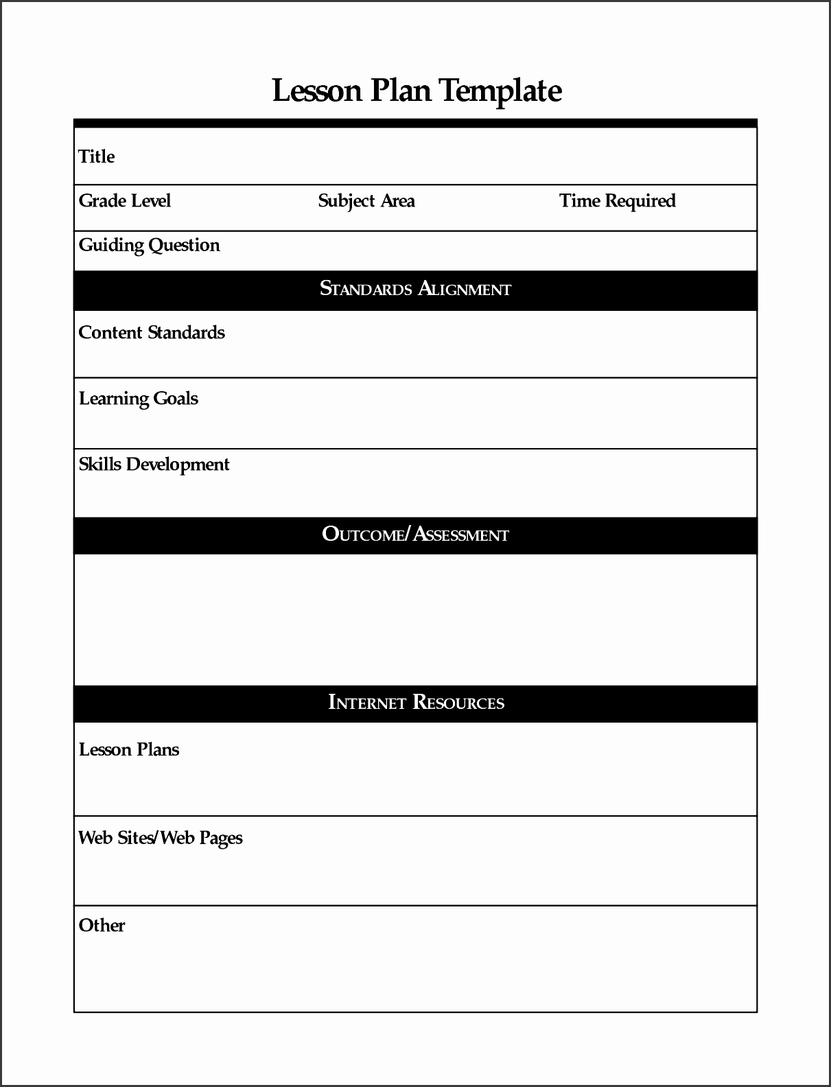 Lesson Plan Template Free Luxury 9 Free Lesson Planner Template Line Sampletemplatess