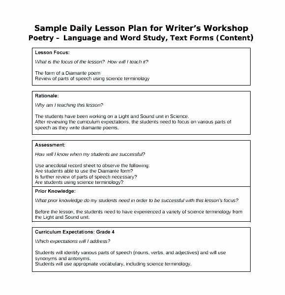 Lesson Plan Template Google Doc New Lesson Plan Template Download 9 Music Lesson Plan