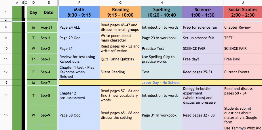 Lesson Plan Template Google Docs Beautiful Weekly Lesson Plan Template Google Sheets Google Docs