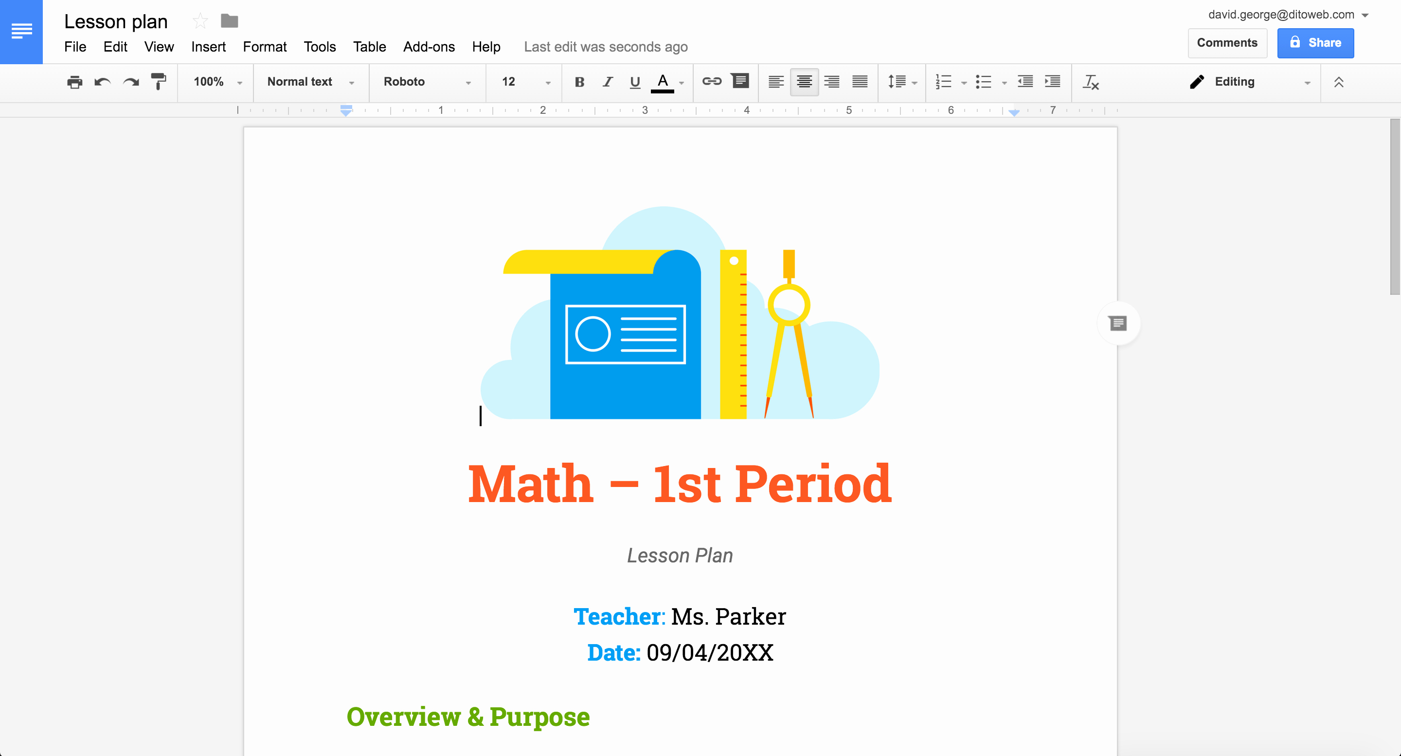Lesson Plan Template Google Docs Inspirational New Professionally Designed Templates for Docs Sheets