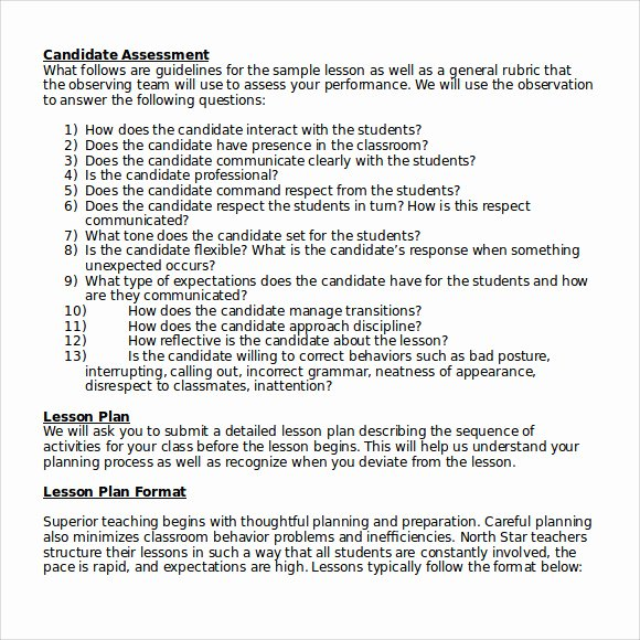 Lesson Plan Template High School Unique 10 Sample High School Lesson Plans