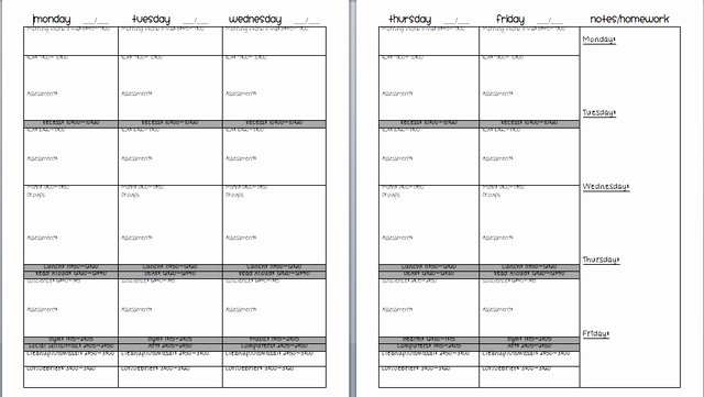 Lesson Plan Template Middle School Beautiful 8 Best Lesson Plan Templates Images On Pinterest