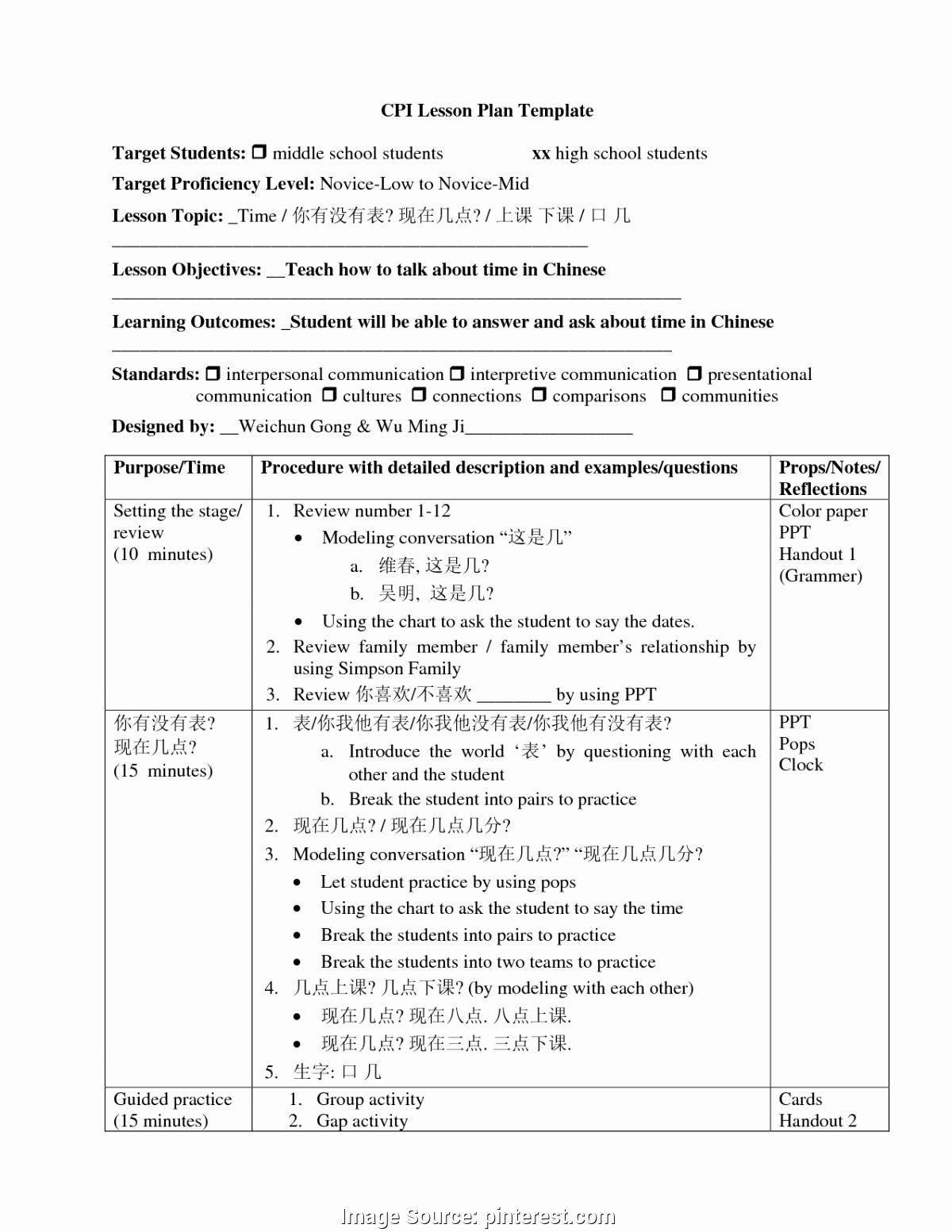 Lesson Plan Template Middle School Beautiful Business Lesson Plans Middle School Vehicle Crash Course