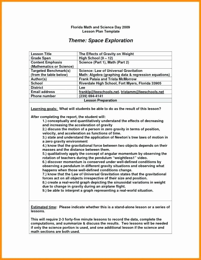 Lesson Plan Template Middle School Best Of Algebra 1 Lesson Plan Template Sat Lesson Plan