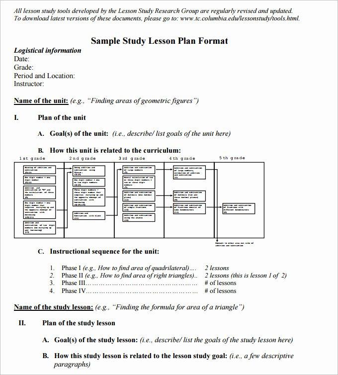 Lesson Plan Template Pdf Fresh 7 Math Lesson Plan Template Free Pdf Word format