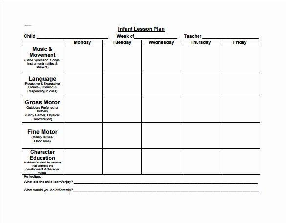 Lesson Plan Template Pdf Fresh Preschool Lesson Plan Template 11 Free Pdf Word format