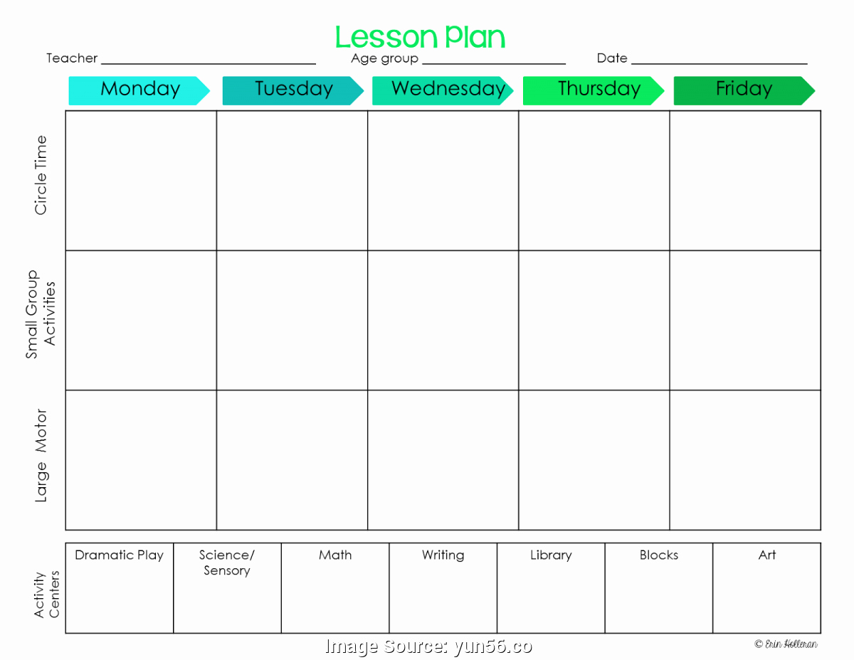 Lesson Plan Template Preschool Lovely Simple Preschool Lesson Plans Templates Block Schedule