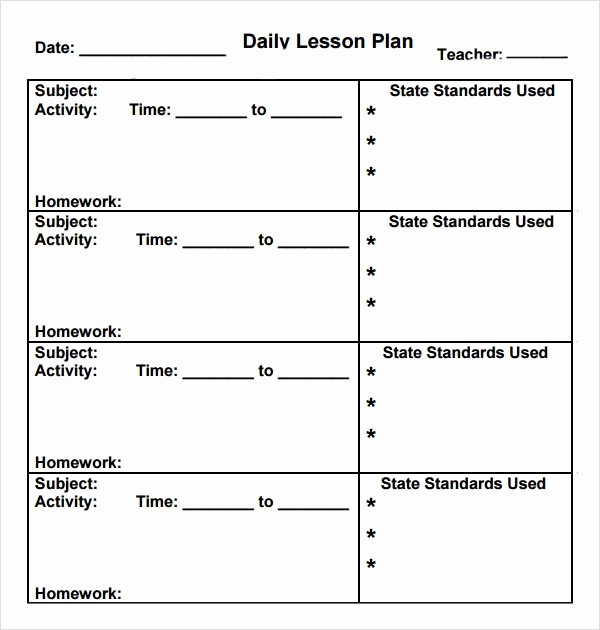 Lesson Plan Template Preschool New Preschool Lesson Plan Template 10 Download Free