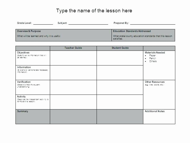 Lesson Plan Template Word Best Of Mon Core Weekly Lesson Plan Word Free Download Siop