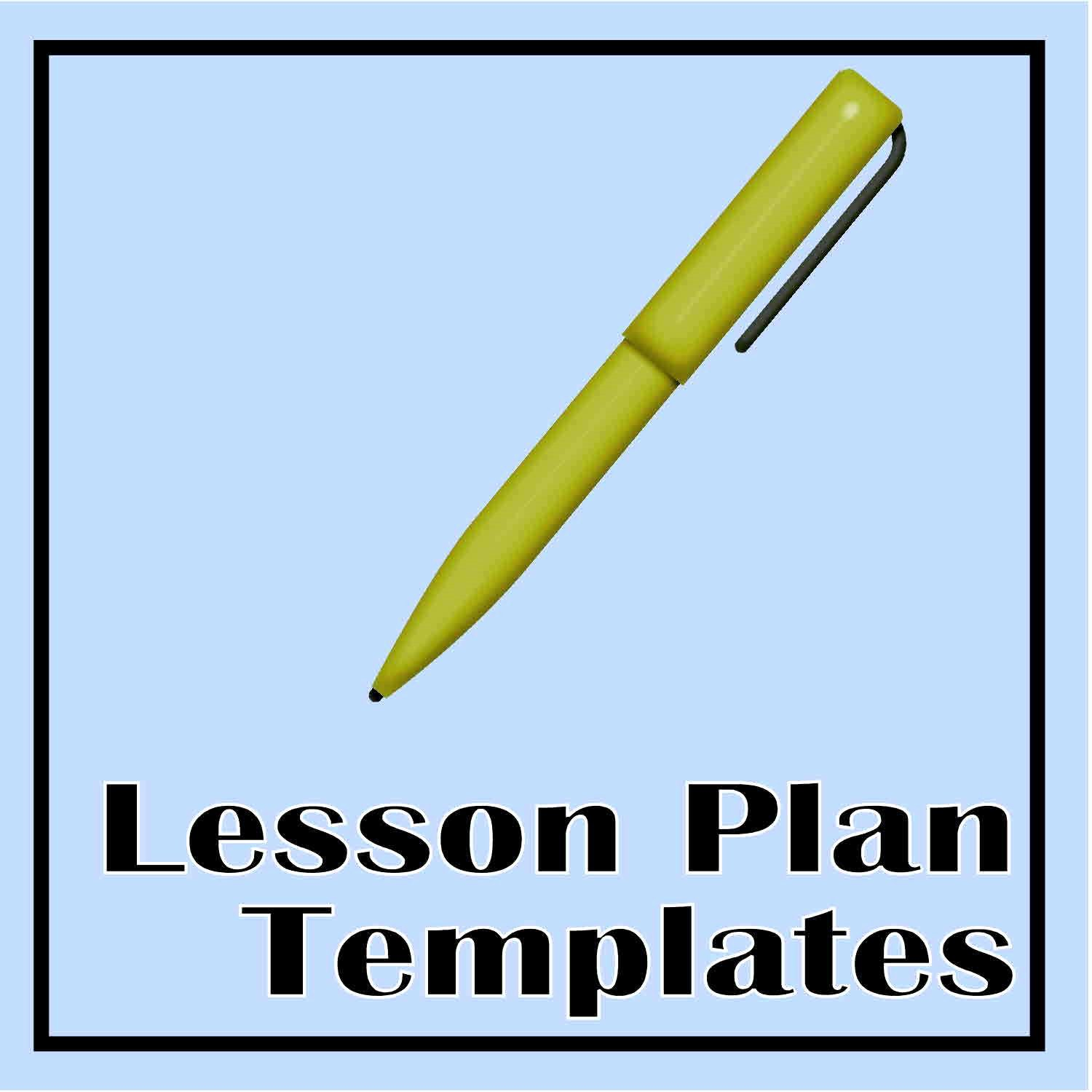 Lesson Plan Template Word Doc Awesome Lesson Plan Templates the Curriculum Corner 123