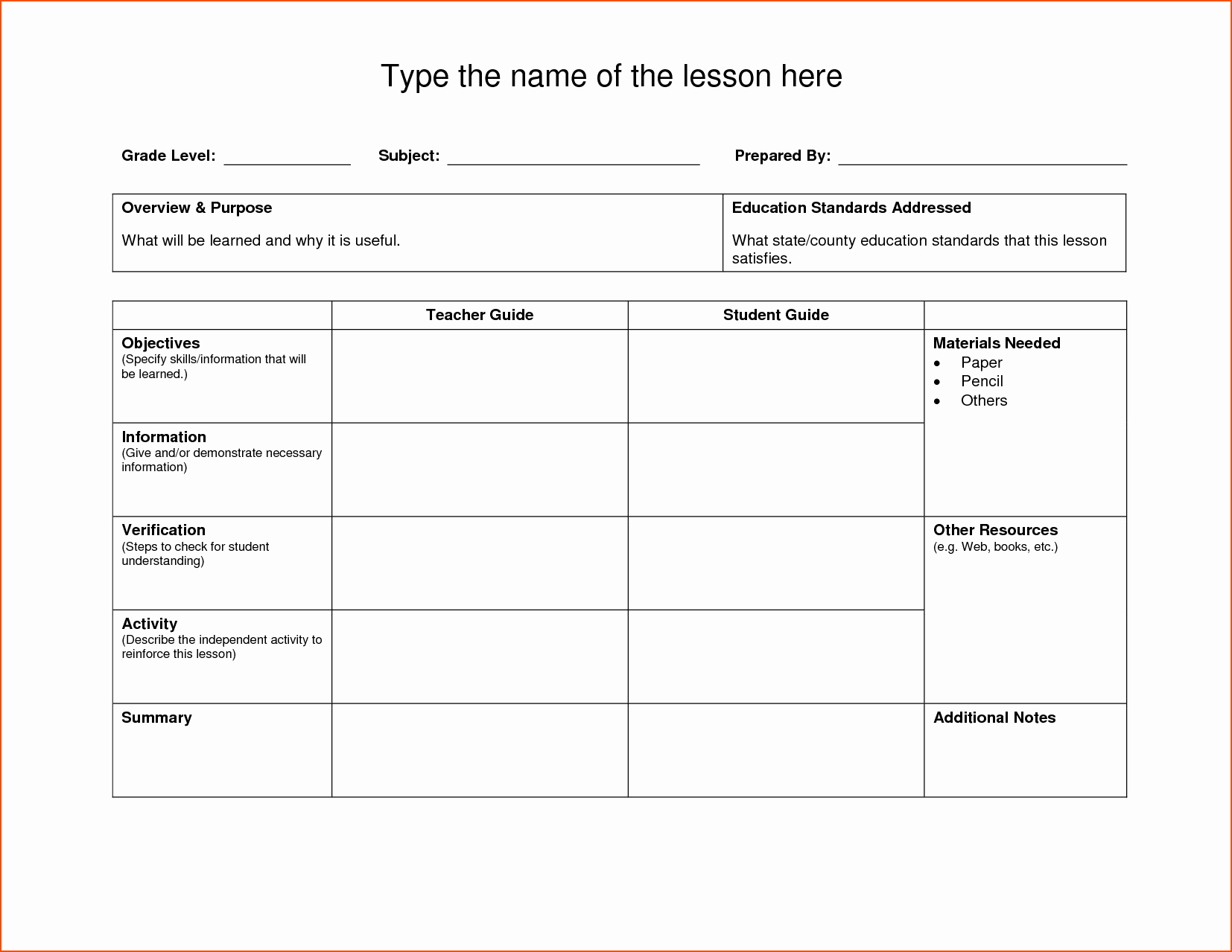 Lesson Plan Template Word Doc Elegant 8 Lesson Plan Template Doc Bookletemplate