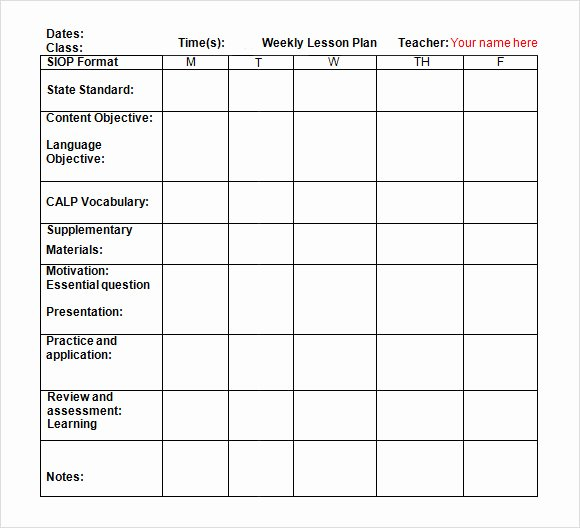 Lesson Plan Template Word Doc Elegant Weekly Lesson Plan Template Doc