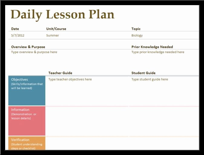 Lesson Plan Template Word Unique Daily Lesson Plan Templatereference Letters Words
