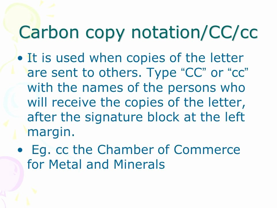 Letter format Carbon Copy Awesome foreign Economic Relations and Trade Correspondence Ppt