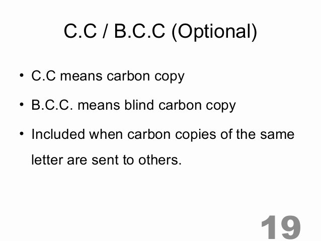 Letter format Carbon Copy Best Of Important Parts Of Letter 2013