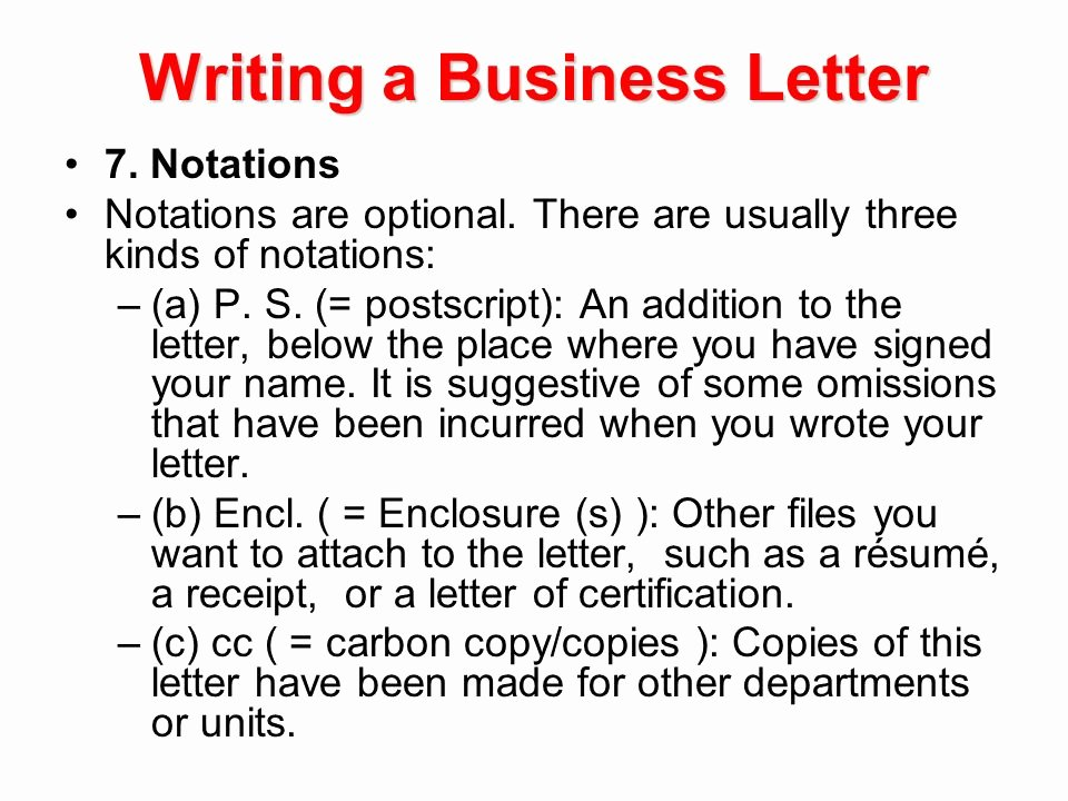 Letter format Carbon Copy Fresh Writing A Business Letter Ppt Video Online