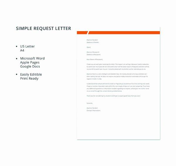 Letter format Google Docs Elegant 79 Request Letter Samples Pdf Word Apple Pages Google Docs