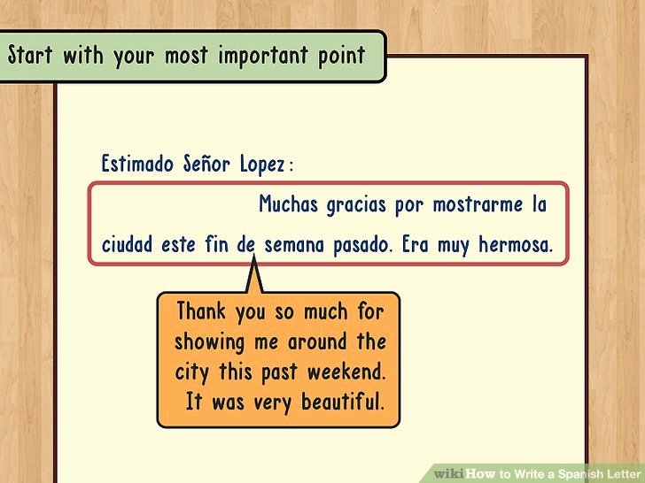 Letter format In Spanish Fresh How to Write A Spanish Letter 14 Steps with