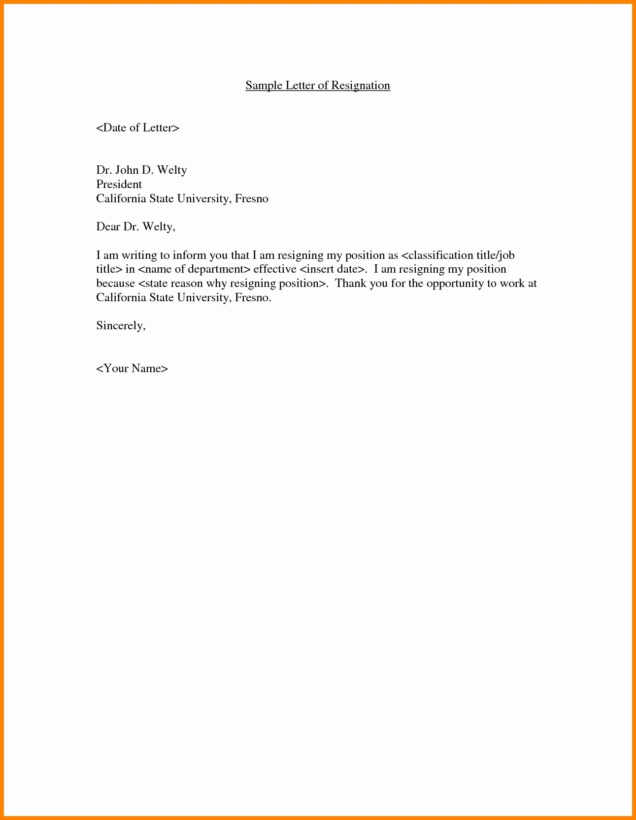 Letter format On Word Awesome Resignation Letter Samples In Word format New Standard