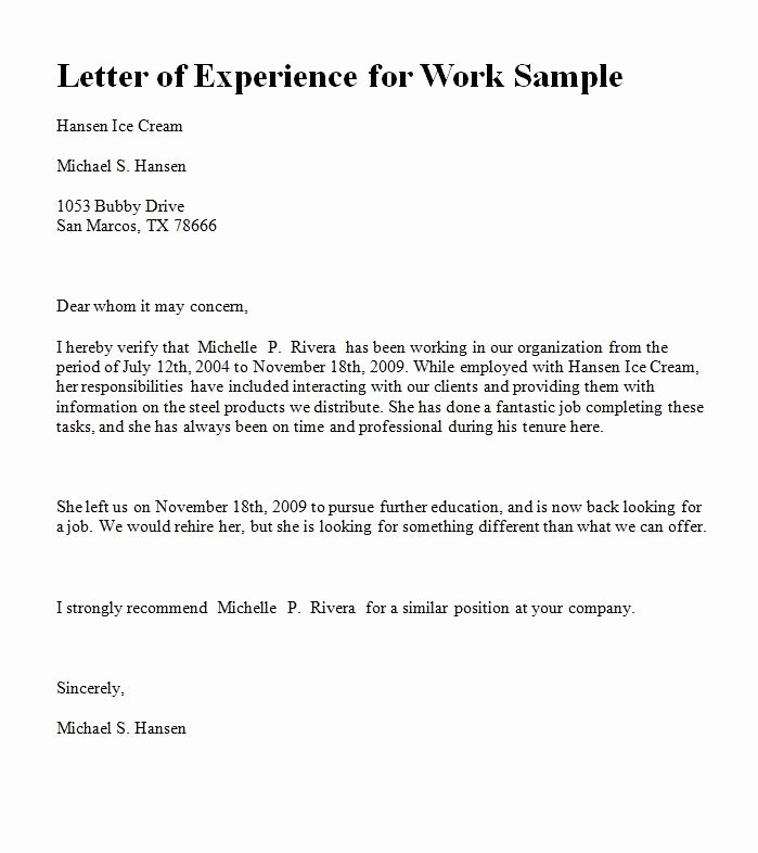 Letter format On Word Best Of Experience Letter In Ms Word format for Yahoo Image