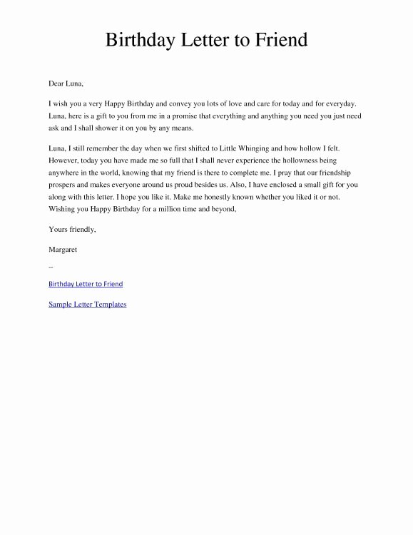 Letter format to A Friend Beautiful Happy Birthday Best Friend Letter Tagalog 2018 Letter