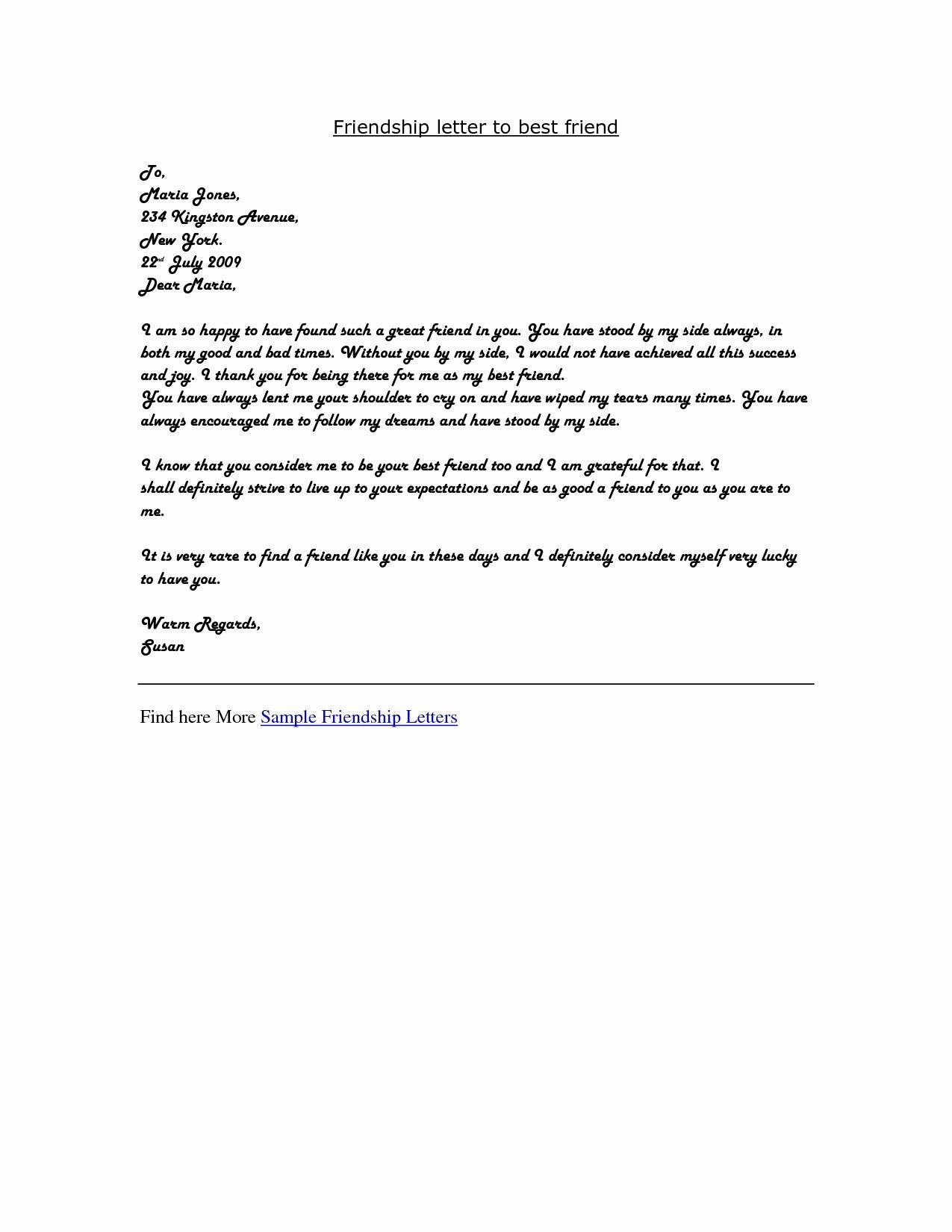 Letter format to A Friend Elegant Live Letter Writing