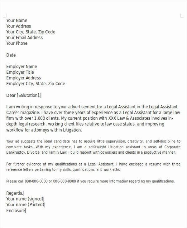 Letter format with Enclosures Unique 6 Enclosure Cover Letter