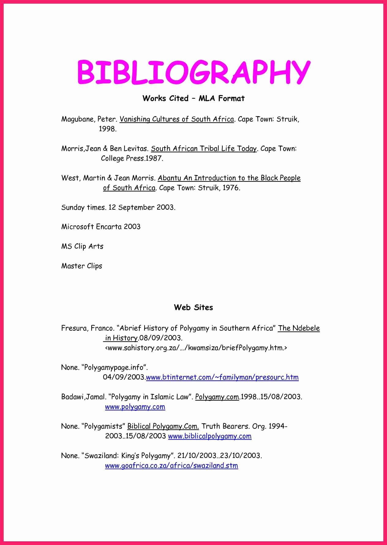 Letter In Mla format Elegant Bibliography In Mla format